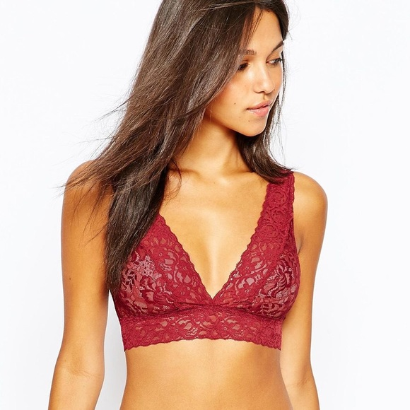 20888b3b2fa ASOS Other - ASOS Red Lace Bralette